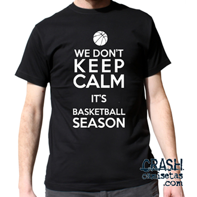 Camiseta personalizada KKEP CALM PLAY BASKETBALL