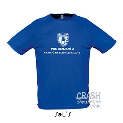 Camisetas técnicas deporte C.E. VILA OLIMPICA. Campeones de liga.