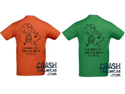 Camisetas CRASH personalizadas Agrupació Escolta Lo Mòtit - AELO de Alcarràs