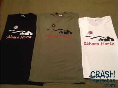 Camisetas CRASH para Asociación Sahara Horta