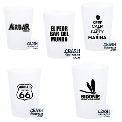 Vasos diversos personalizados para AIRBAR