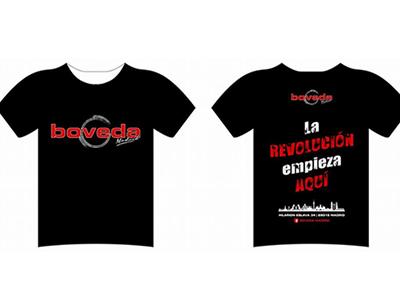 Camisetas personalizadas inauguración BOVEDA MADRID.