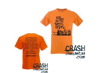 Camisetas CRASH personalizadas JAEC de Torres de Segre